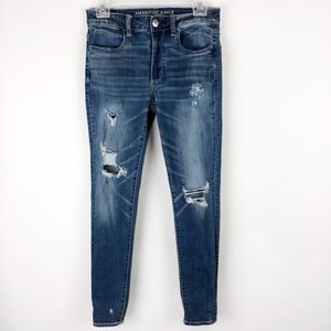 American Eagle Distressed High Rise Jegging Jean
